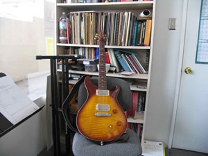 picture of guitar in redondo beach office no instructor or student